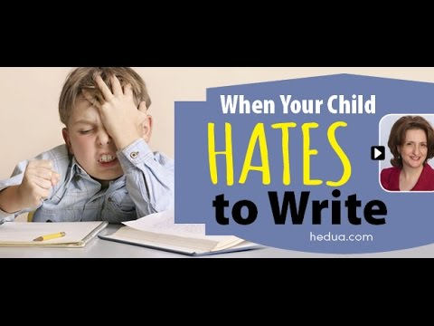 When Your Child HATES to Write