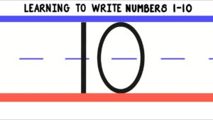Learning to Write Numbers 1-10 | How to Write 1 to 10 for Kids | Handwriting Numbers Preschool