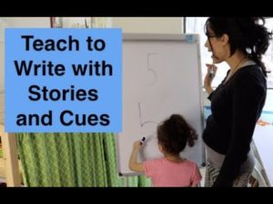 Teach Children to Write Numbers with Stories and Cues