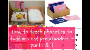 How to teach phonics to toddlers & preschoolers- Part-1
