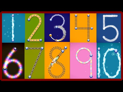 ✿★LetterSchool – Learn to write Letters and Numbers★✿ Numbers 1 to 10 Best app for kids