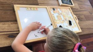 How to teach a child to write words