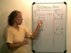 Teaching multiplication algorithm – video