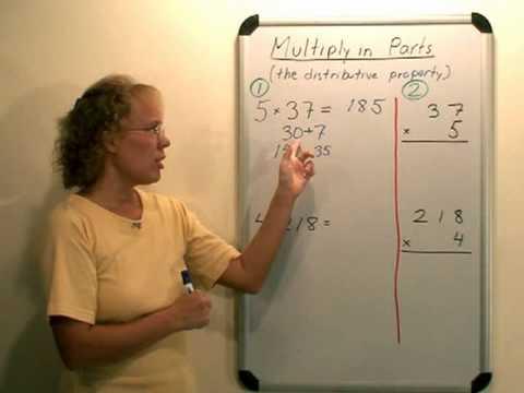 Teaching multiplication algorithm – video